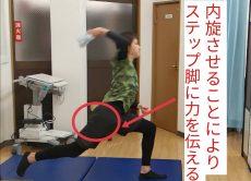 股関節内旋により力を伝える
